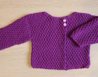 Sweater baby daughter, Fuchsia color