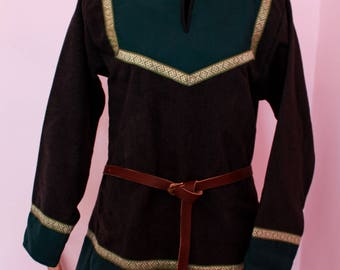 Viking tunic; wool tunic; medieval clothes; viking clothes