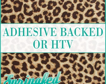 Leopard Spots Pattern #1 Adhesive or HTV Heat Transfer Vinyl for Shirts Crafts and More!