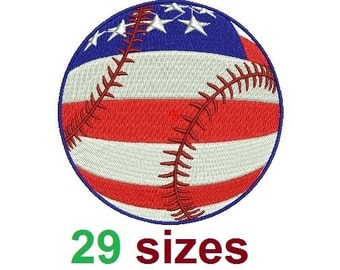 American flag United States USA Baseball EMBROIDERY Design Softball Embroidery Design Fill Design Machine Embroidery Instant Download ER724F