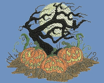 Halloween Embroidery Design, Machine Embroidery Instant Download, 9 sizes, HD065