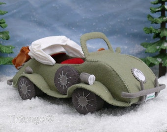 MouseMobile - PDF pattern - download - to make your own wool felt car.