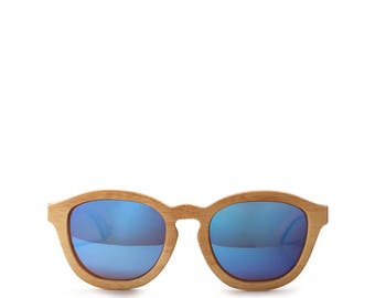 Blue Bamboo Sunglasses Polarized Surfer Wooden sunglasses Beach Style Polarized Bamboo Natural Style Summer Eyewear Personalized Gift Beach