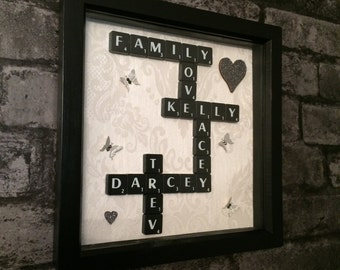 Personalised Scrabble Tile Box Frame