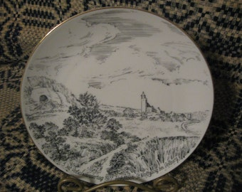 hohloch st. wolfgang  1977 souvenir plate  free shipping in u s a