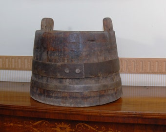 Old wooden container. Italian