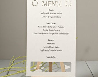 Golf Themed Personalised Menu Cards - Sports Themed Menu Cards (Pack of 5)
