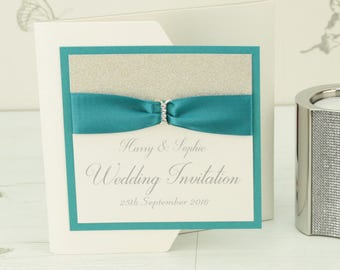 Sparkle Pocketfold Wedding Invitation