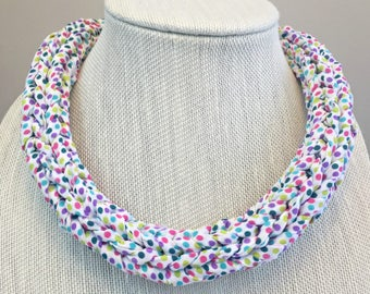 Polka Dot Necklace - chunky necklace, statement necklace, art necklace, abstract necklace, funky necklace, upcycled necklace, bold necklace