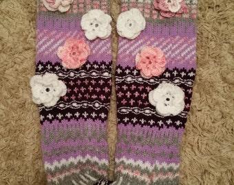 Hand knitted over knee socks