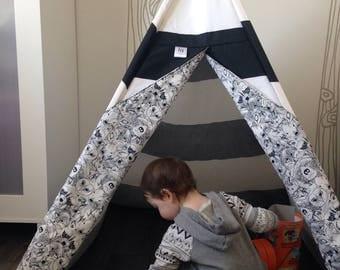 Child - play tent teepee - model WILD