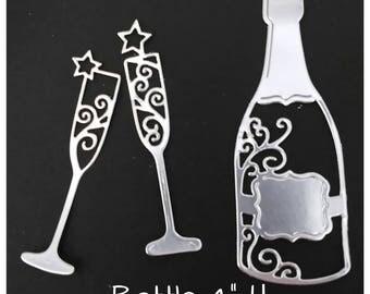 Champagne Celebration 3 Piece Cutting Die Set
