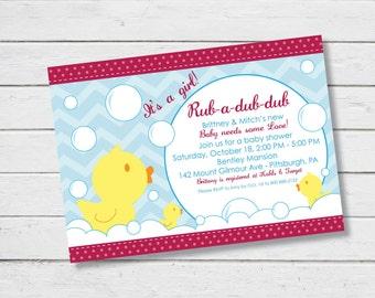 Rubber Ducks Baby Shower Invitation