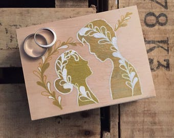 "Box alliances / wedding ring box ""will you marry me""-My Little Painted Boxes"
