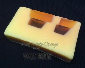 Frilly Dainty Orange Soap - handmade - vegan - vegan gift ideas - kawaii - orange scent soap - yellow soap - kawaii - vegan soap - birthday