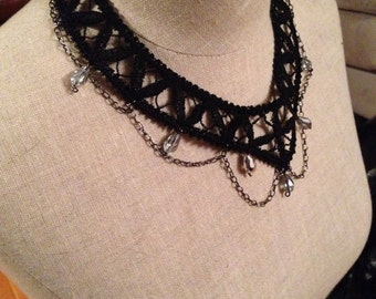 Gothic Victorian Lace Choker