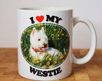 Personalised Dog Mug, I love My Dog, Dog Lover, Custom Photo