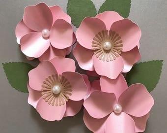 Hydrangea paper flower template paper flower template cherry blossom paper flower paper flower template flower decor pronofoot35fo Choice Image