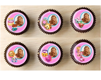 Shopkins Favorite Characters Picture Frame Edible Cupcake Toppers