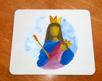 Virgin Mary Mousepad, Christian Mouse Pad, Jesus Mouse Pad, Virgin Mary Mouse Pad, Christian Mousepad, Jesus Mousepad, Christian Art