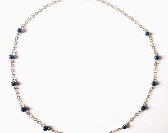 "Necklace ""Norma"", Fieldstone hematites"