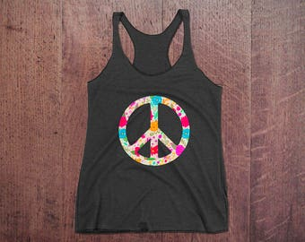 Women Peace T-shirt Tank Top
