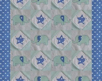 Baby patchwork handmade coverlet quilt