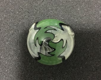 Glass wig wag disk pendant