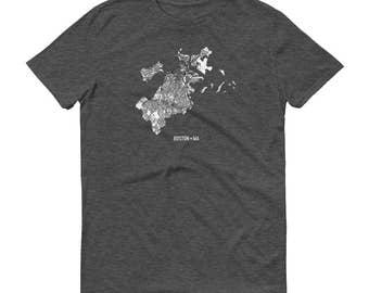 Boston Shirt, Boston Mass, Boston TShirt, Boston Gift, Boston Tee, Boston Map, Massachusetts Shirt, Massachusetts Map, Boston Art, Home