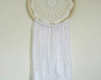 White Boho Dreamcatcher