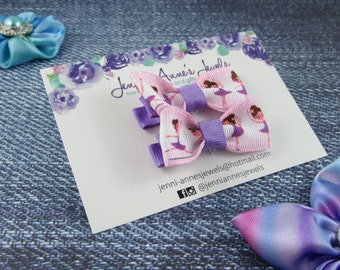 Bow Tie Hair Clip - Set of 2 - Ballerina
