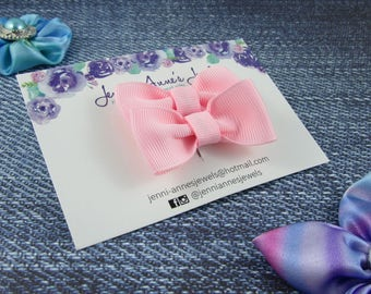 Bow Tie Hair Clip - Set of 2 - Pinks
