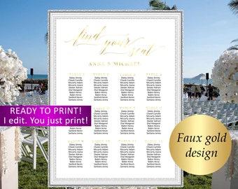 Wedding seating chart,Gold Wedding seating chart personalized,Wedding find your sit,Gold Wedding seating plan,We Do Wedding seating chart,27