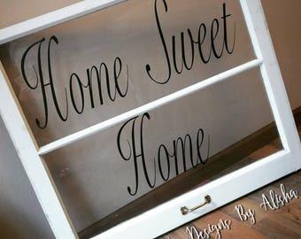 Large Home Sweet Large 2-Pane Window Decor