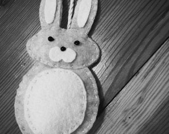 Easter Bunny Felt Ornament | Easter Decor | Easter Bunny Ornament | Felt Rabbit Ornament