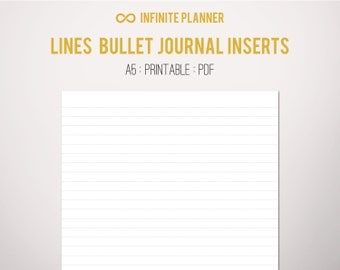 A5 Line Page - Bullet Journal Printable PDF
