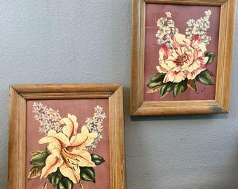 Floral Art Prints - Vintage Wall Art - Boho