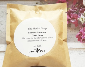 Orange, cedarwood and ylang ylang Blend Shower Steamer/ Shower Steamer/Aromatherapy/ Essential Oil Spa/ Natural Aromatherapy/shower bomb