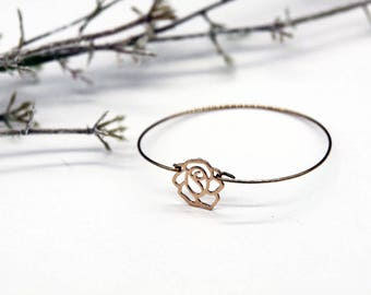 Ring rose gold - plated bracelet flower bracelet gold - jewelry Gold Flower