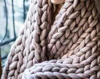 Giant yarn, 100% merino wool super chunky yarn for giant knitting, super bulky yarn, extra soft, luxury 18 microns