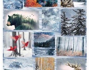 Winter Animals Fabric Panel