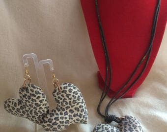 Leopard jewelry sets hearts