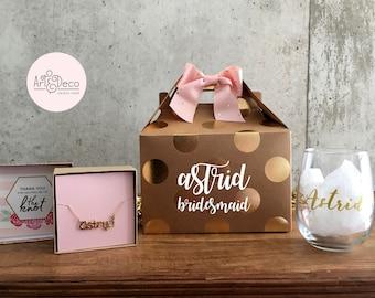 BRIDESMAID GIFT Bridesmaid Box Ask Wedding Party Gift Will You Be