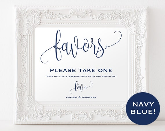 Wedding favor sign wedding template editable wedding for Wedding signs templates
