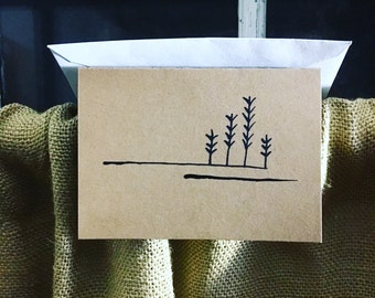 Winter Wheat | A1 Folded Kraft Note-cards