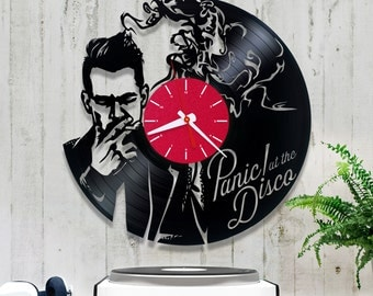 Panic! at the Disco Vinyl Clock| Wall Clock 1/8/8| Kitchen Clock| Music Lover Gift| Recycled Vinyl Clock| Birthday Gift| Gift for Him