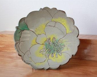 Magnolia Flower Plate - Housewarming Gift - Gift for Her