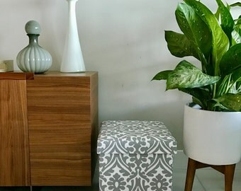 Storage Ottoman / Living Room Decor / Wedding Gift / Box / Seat