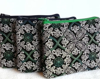 Irish change purse, Celtic Knot coin purse, credit card, cash, receipt holder, zippered pouch