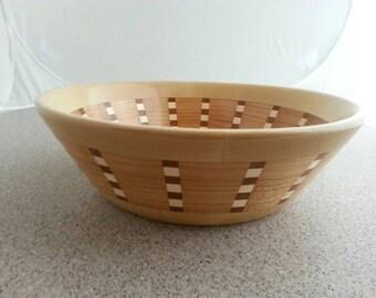 Segmented wooden bowl 833. Food safe, great wedding gift.